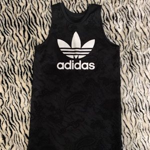 Black lace Adidas dress